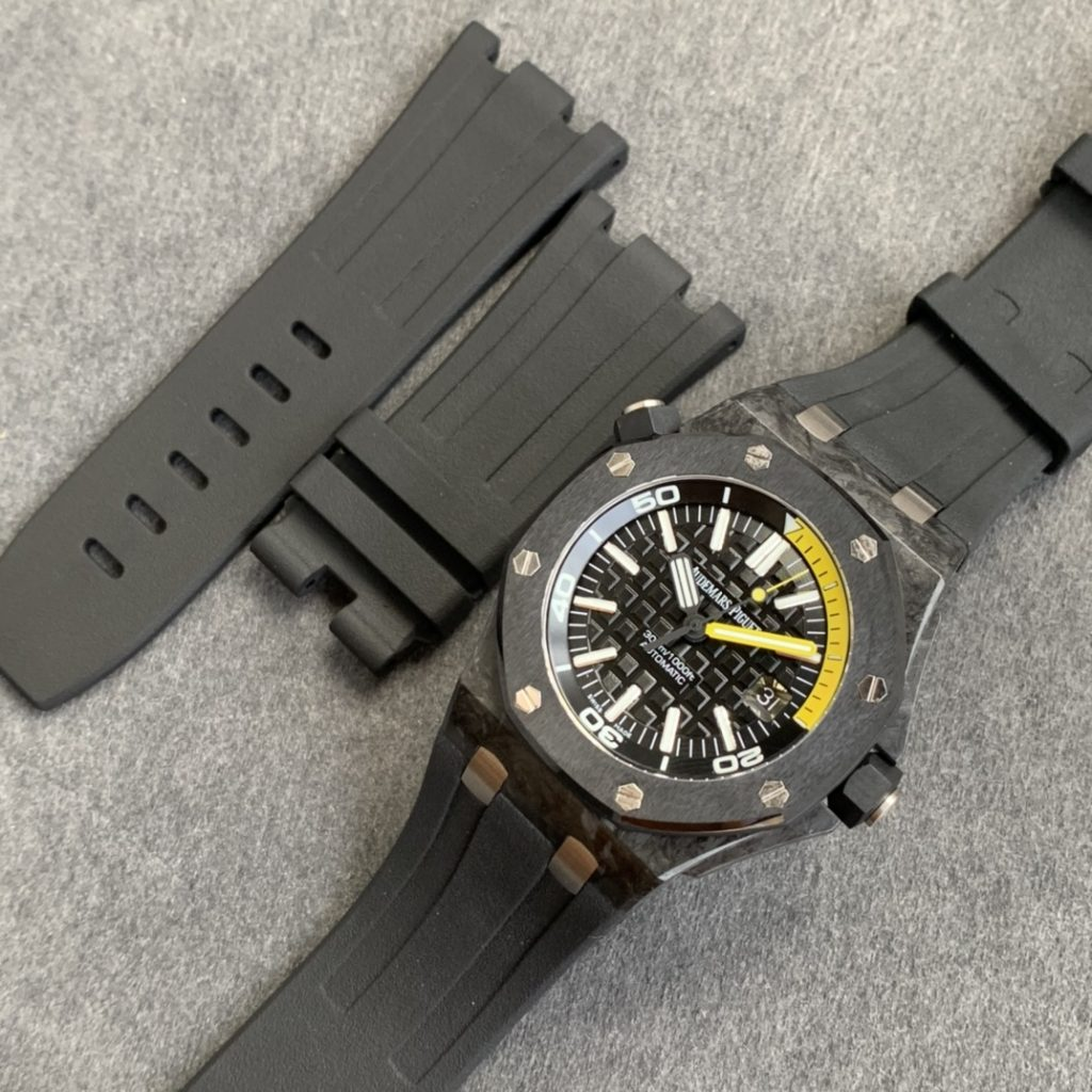 The Best V3 Edition of Replica Audemars Piguet Royal Oak Diver 15706 Forged Carbon Watch from XF Factory