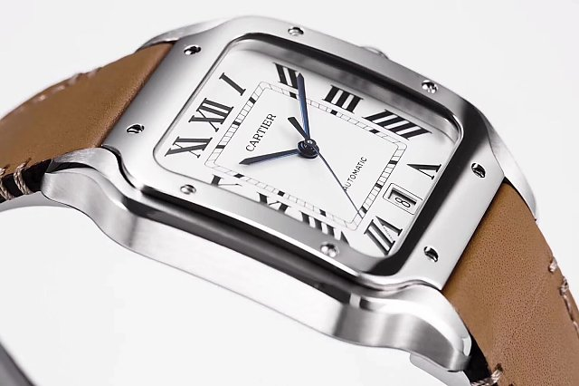Cartier Santos 100 2018 Blue Steel Hands
