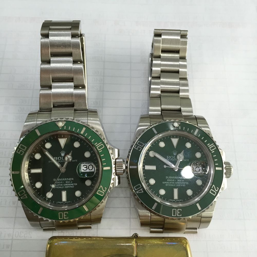 Genuine Submariner VS Replica 2