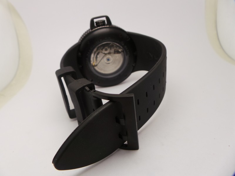 Hamilton Black Rubber Strap with Pin Buckle