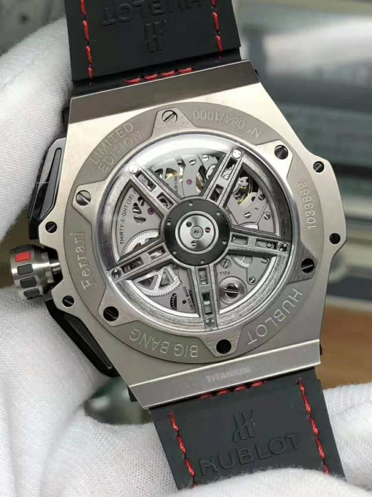 V6 Factory Replica Hublot Big Bang Ferrari Titanium Carbon Bezel with Asia Valjoux 7750