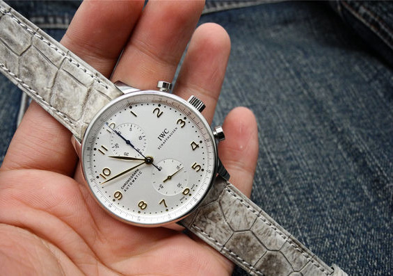 IWC Portuguese Chronograph on Hand