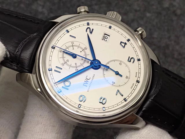 IWC Portuguese IW390404 with Black Leather Band