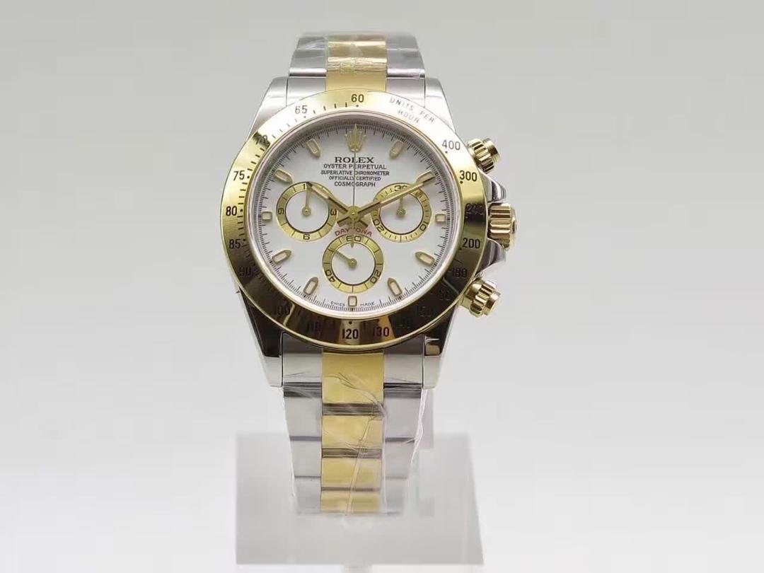 J12 Replica Rolex Daytona Two Tone Yellow Gold
