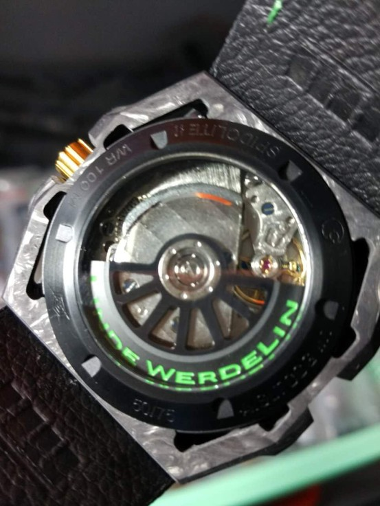New Arrival Replica Linde Werdelin Spidolite Tech II Green Forged Carbon Watch From V6 Factory