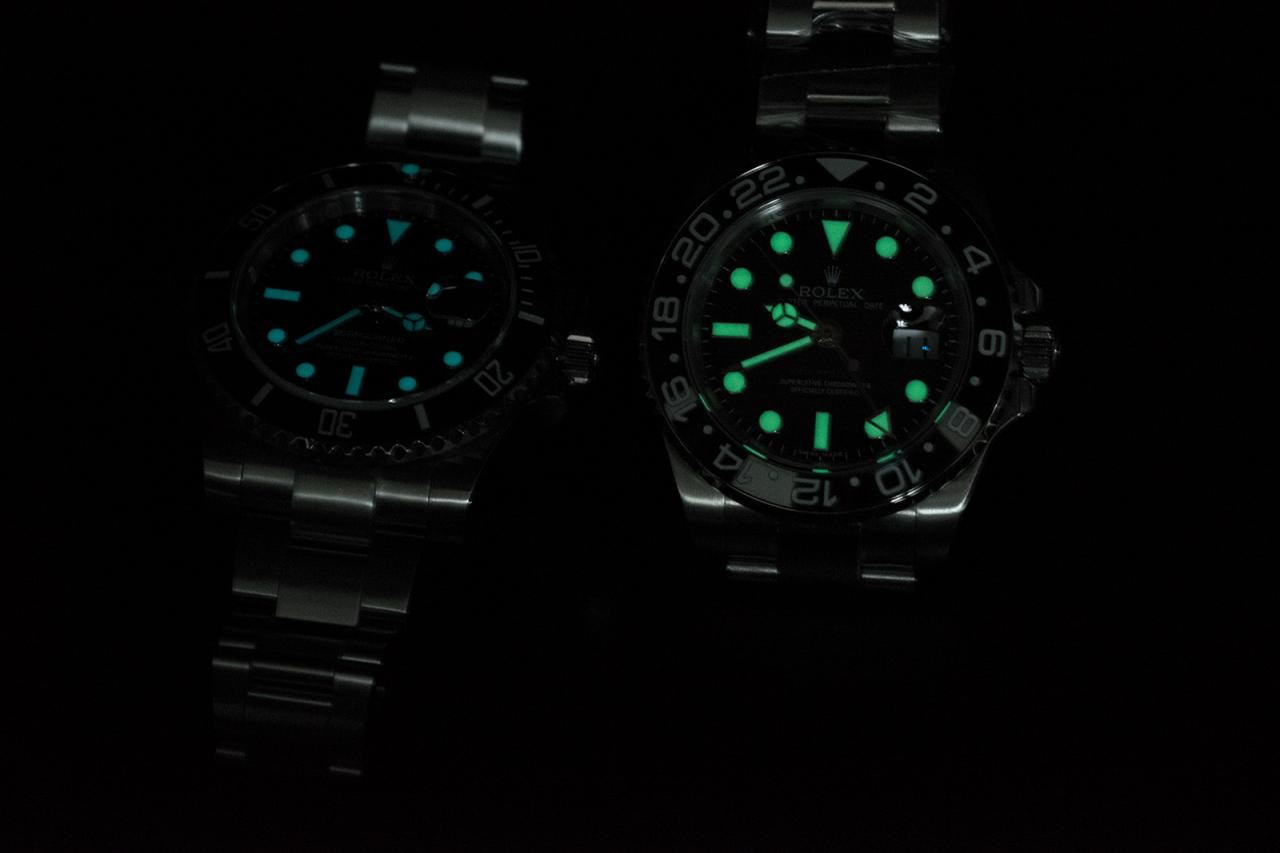 Lume Comparison GMT VS Sub