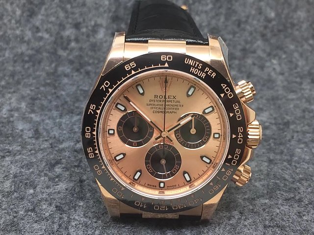 Noob Replica Rolex Daytona 116515 with Black Strap