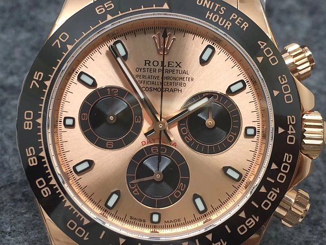 Noob Replica Rolex Daytona Rose Gold Dial