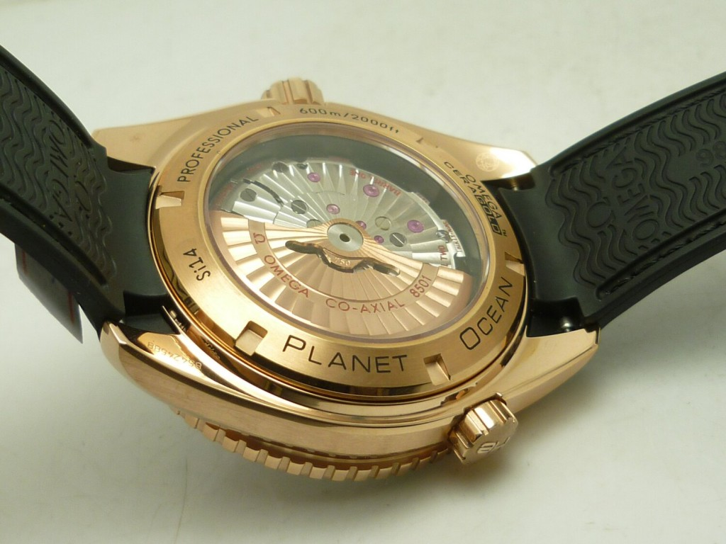 Replica Omega Planet Ocean Rose Gold Ceramic Bezel