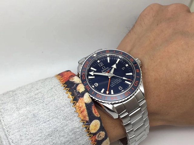 Omega GMT Blue on Wrist