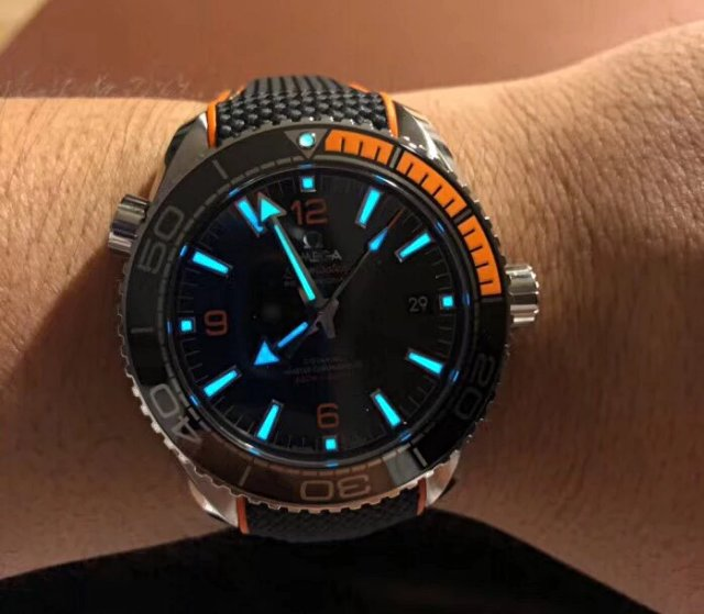 VS Factory Replica Omega Planet Ocean 600m Orange Watch with Clone 8900 Movement