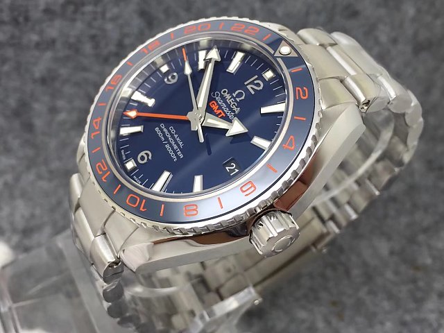 Omega Planet Ocean GMT Orange Bezel Markers