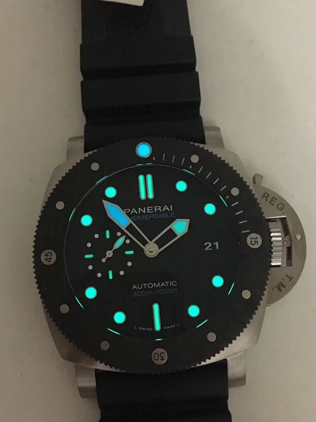 VS Factory Replica Panerai PAM 799 CarboTech Submersible Titanium Watch with Super Clone P.9010