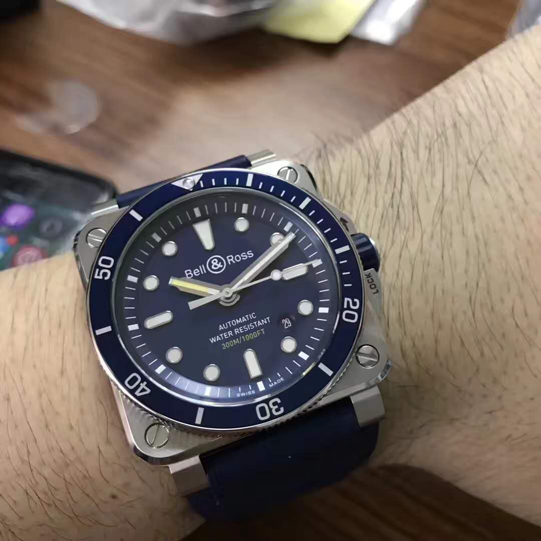 Replica Bell Ross BR03-92 Diver Blue – The Shark in Deep Sea