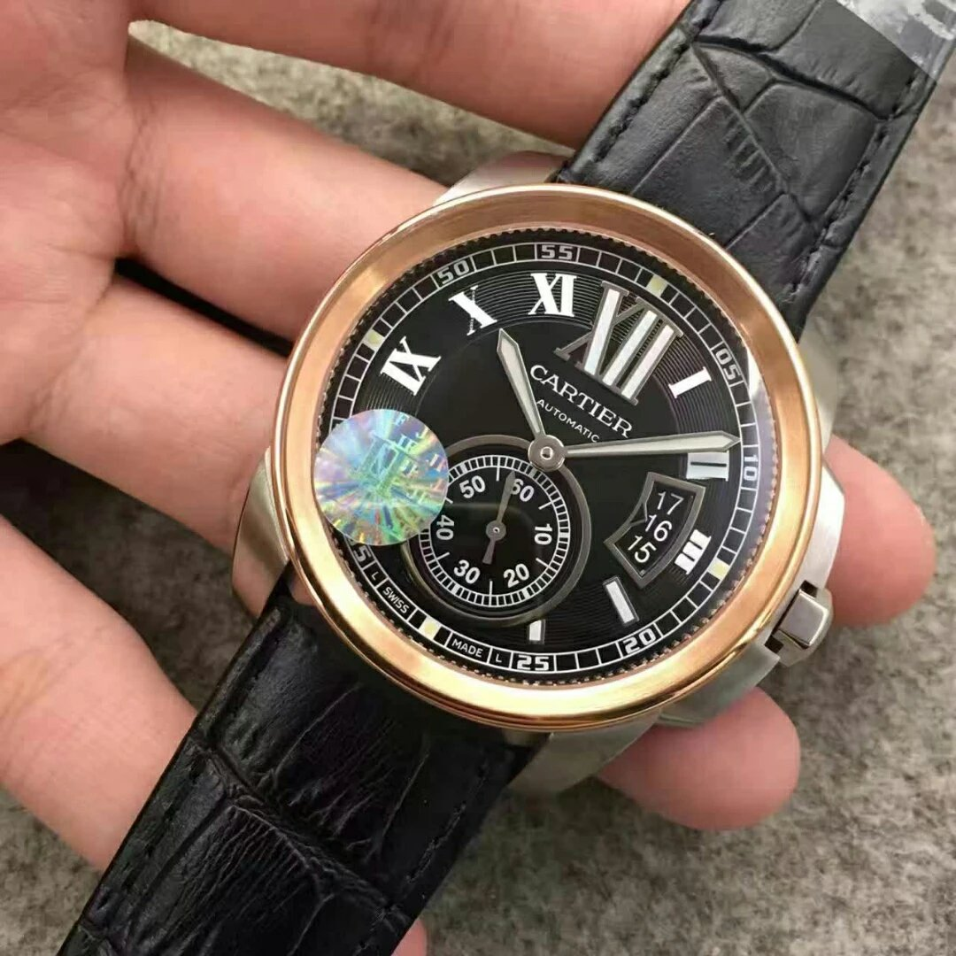 Replica Cartier Calibre Black Dial