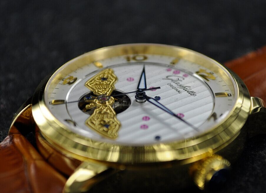 Replica Glashutte Panoinverse Golden Watch