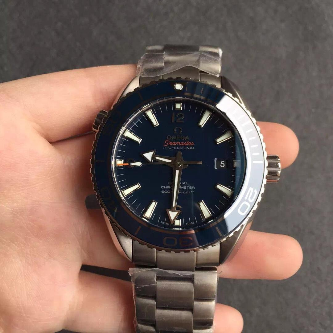 Replica Omega Seamaster Planet Ocean Titanium Watch