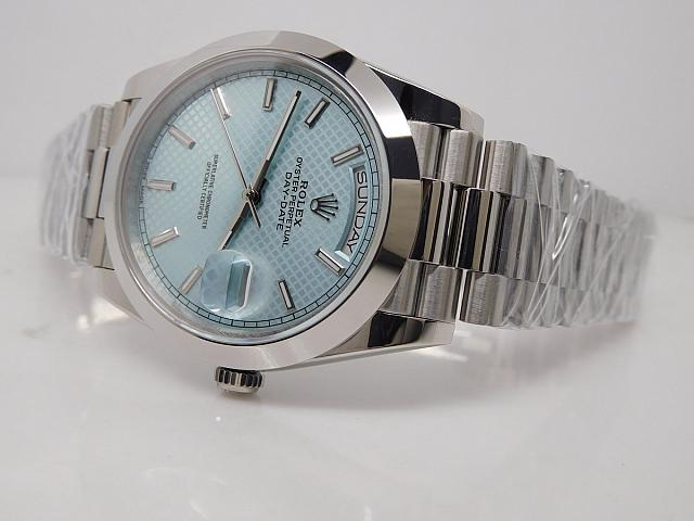 Replica Rolex Day Date Blue Dial