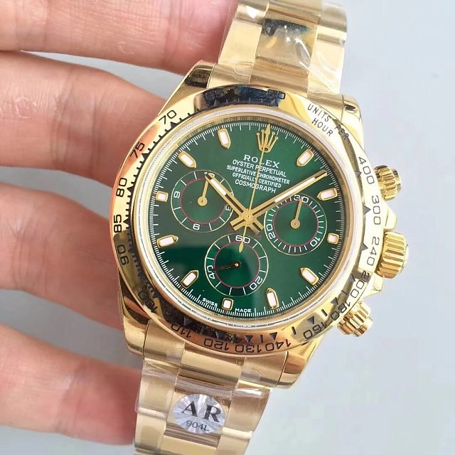 Replica Rolex Daytona 116508LN with Green Dial