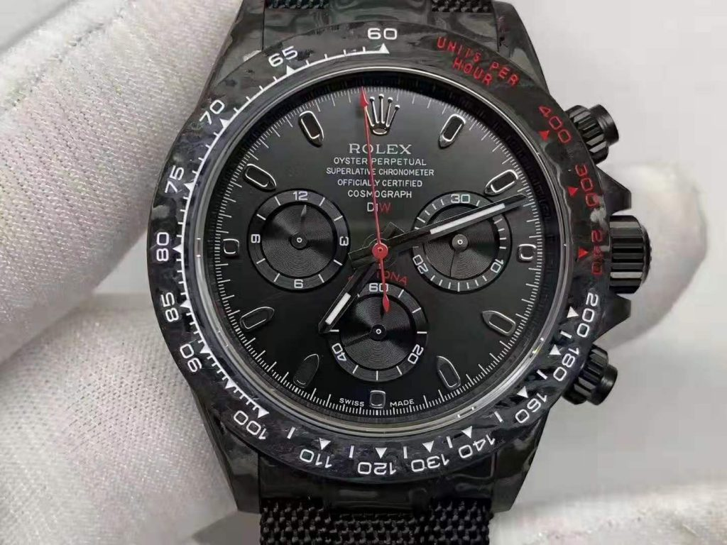 Replica Rolex Daytona Carbon Black Dial