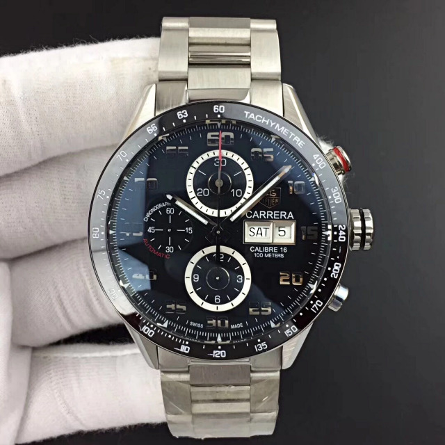 Replica Tag Heuer Carrera Calibre 1887 Black
