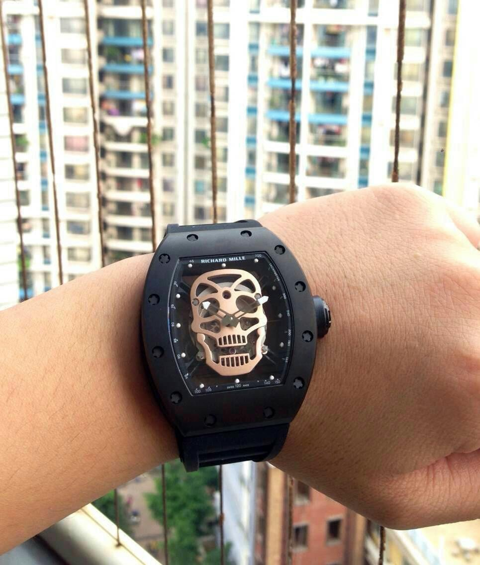 Richard Mille Skull Watch on Wrist