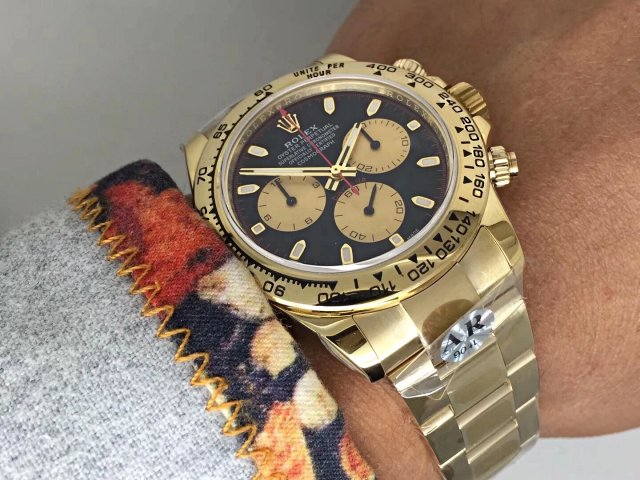 AR Factory V2 Edition Replica Rolex Daytona 116518LN Yellow Gold Watch with Asia 4130 Movement