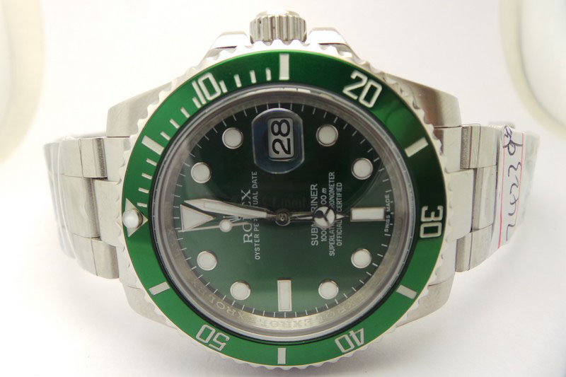 Rolex Green Submariner 116600LV Watch Dial