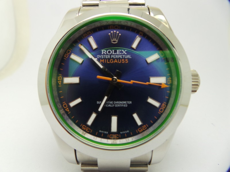 Rolex Milgauss Blue Dial Watch Replica