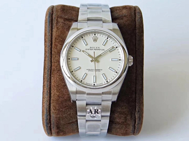 ARF Factory Replica Rolex Oyster Perpetual 39mm 114300 Grey Watch with Super Clone 3132 Movement