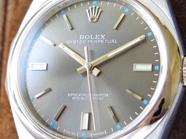 Rolex Oyster Perpetual Grey Dial