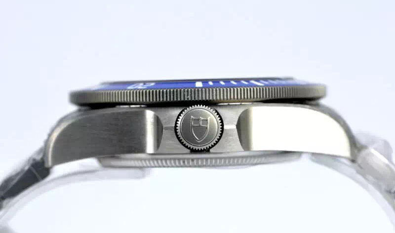 Titanium Case Profile with Tudor Shield Logo on Crown