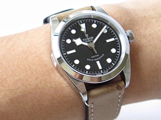 Tudor Black Bay 36mm Wrist Shot