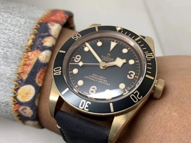 Tudor Black Bay Wrist Shot 3