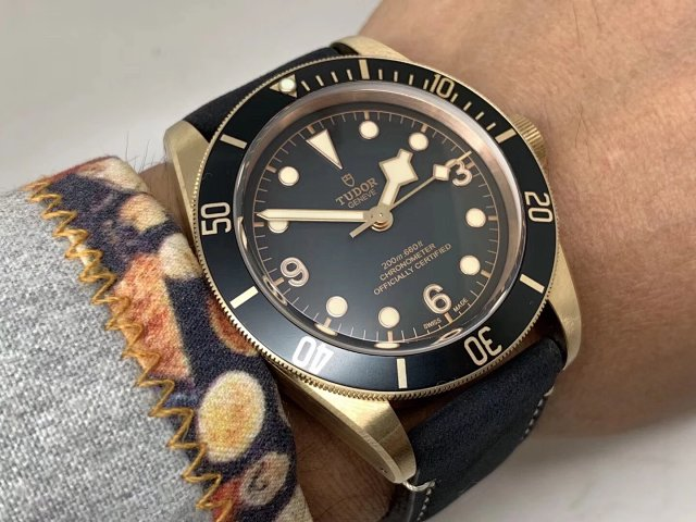Tudor Black Bay Wrist Shot 4