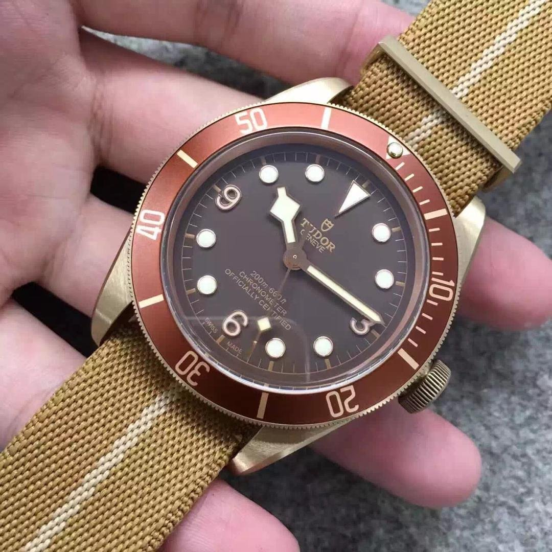 Tudor Bronze Watch Red Bezel