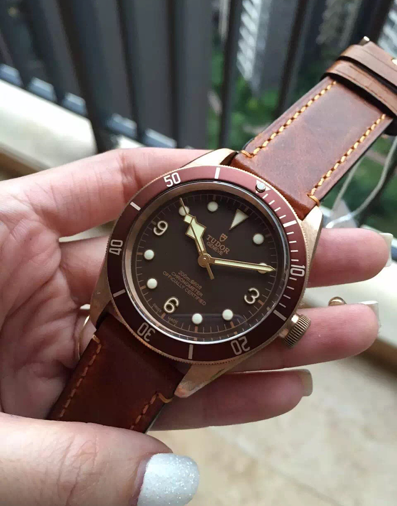 Tudor Heritage Black Bay Bronze Brown Leather Strap
