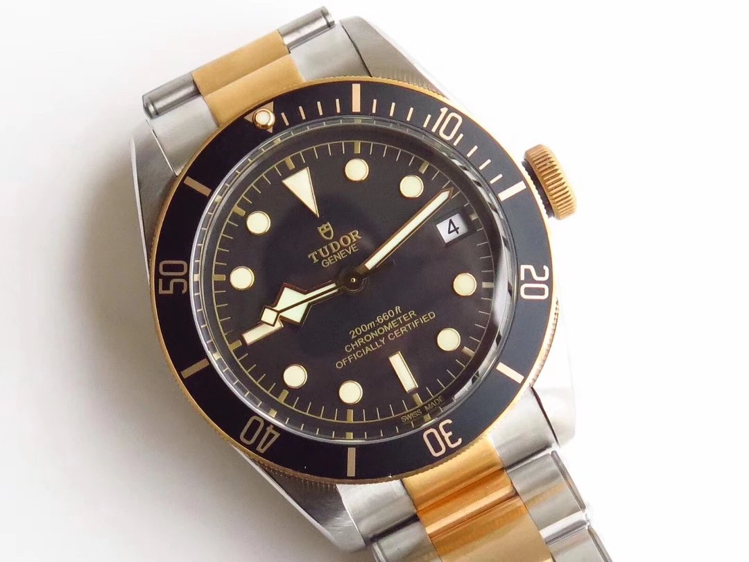 Tudor Heritage Black Bay Two Tone Watch