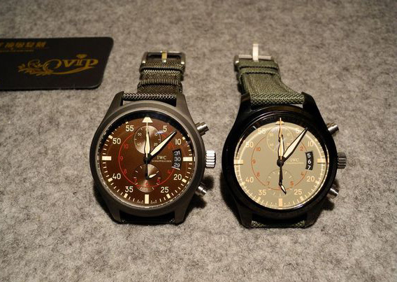 Two IWC Top Gun Miramar Replica Watches