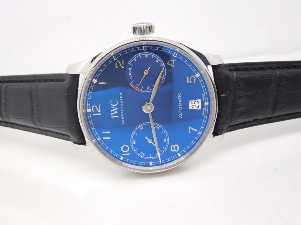 ZF Portuguese 7 Days IW500710 Blue Dial