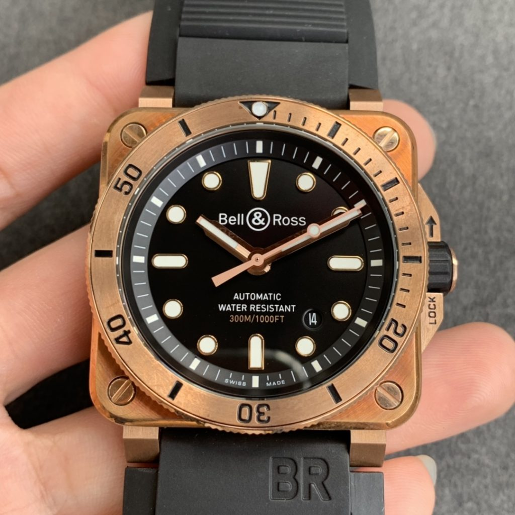 THE FIRST BELL ROSS BR03-92 DIVER BRONZE REPLICA WATCH UNVEILED SALE
