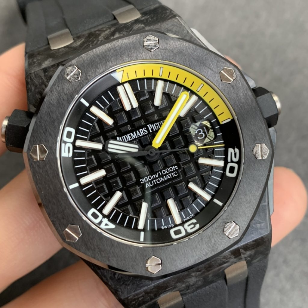 The Best V3 Edition of Replica Audemars Piguet Royal Oak Diver 15706 Forged Carbon Watch from XF Factory Review